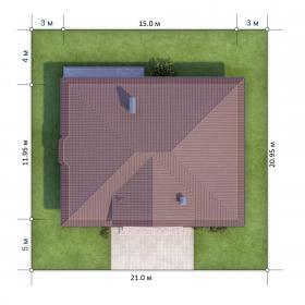 Расположение дома на участке X1