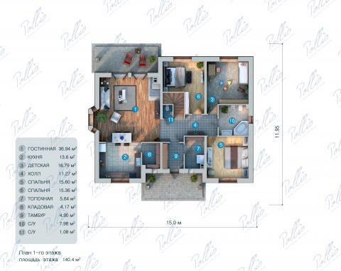 планировки первого этажа проекта X1