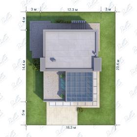 Расположение дома на участке X5