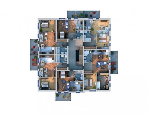 Планировка мансарды / 2го этажа Xb1