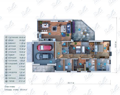 планировки первого этажа проекта X6