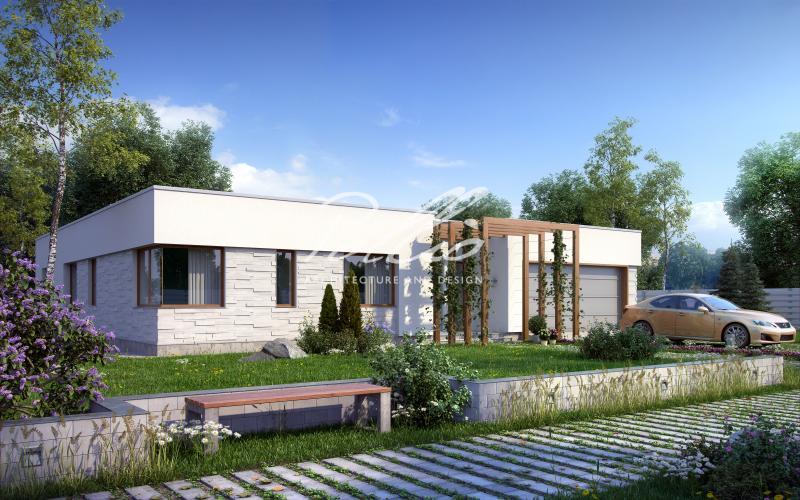 X7. Одноэтажный дом в средиземноморском стиле
