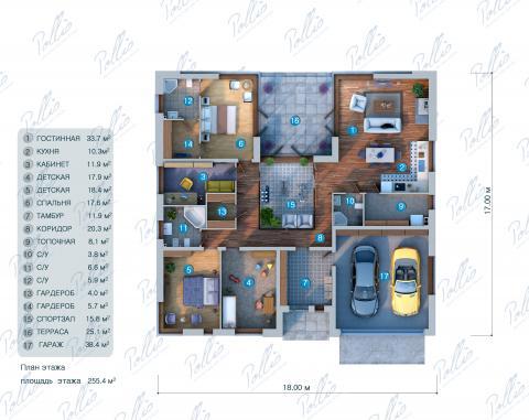 планировки первого этажа проекта X7