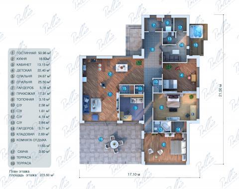 планировки первого этажа проекта X9