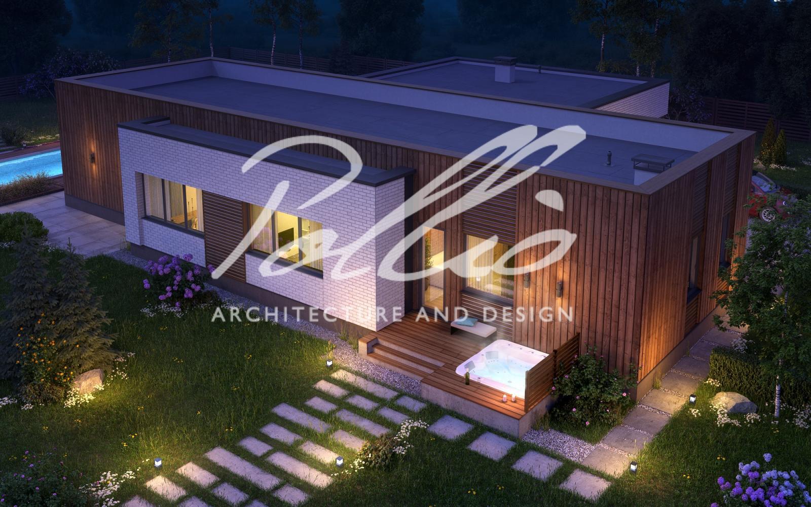 X9 Cовременный проект дома с сауной и джакузи  фото 4