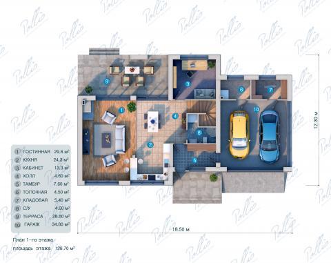 планировки первого этажа проекта X10