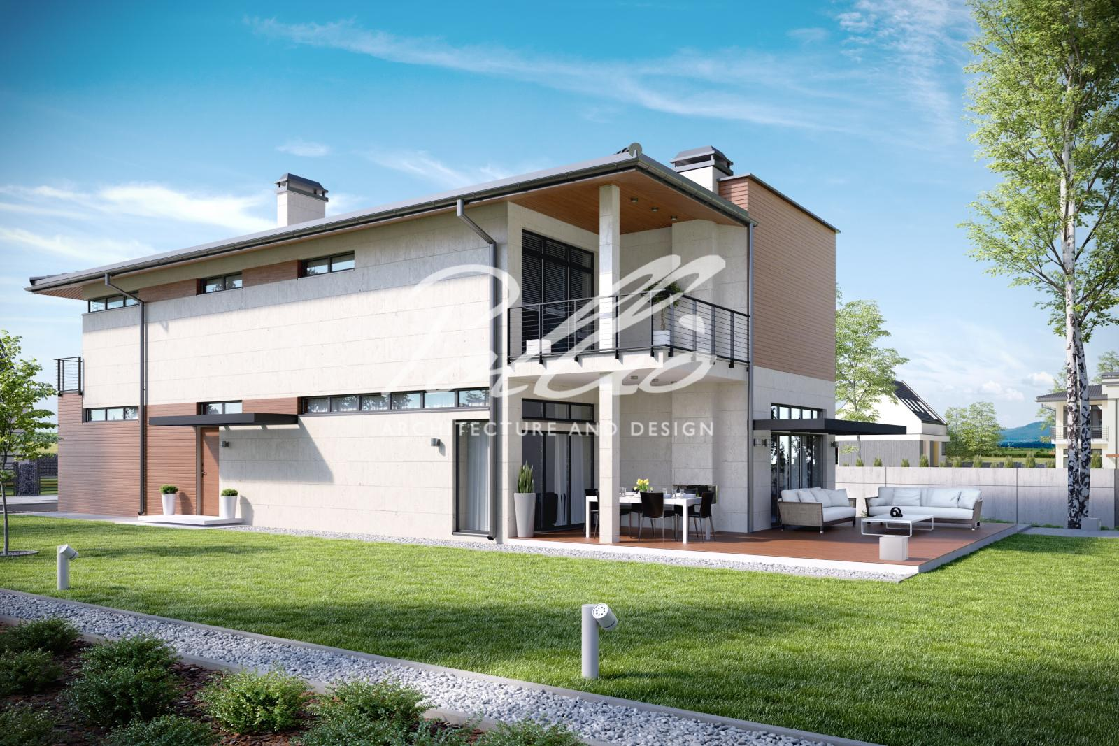X11 Захватывающий проект дома для узкого участка фото 3