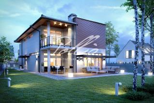 X11 Захватывающий проект дома для узкого участка фото 4