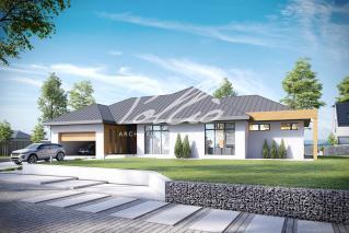 X12 Эксклюзивный проект одноэтажного дома фото 2