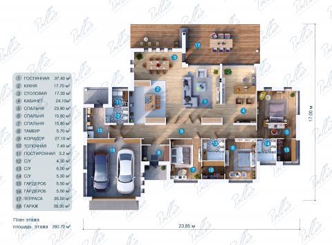 планировки первого этажа проекта X12