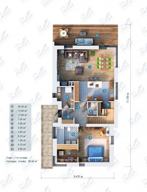 планировки первого этажа проекта X13