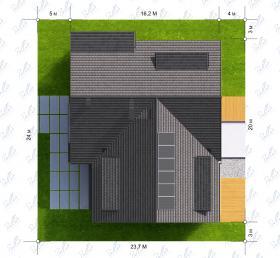 Расположение дома на участке X14