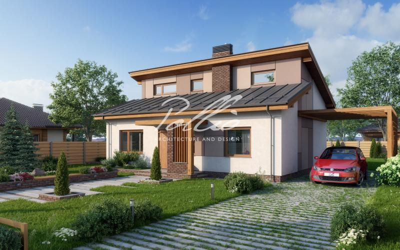 X15. Стильный проект экономного дома
