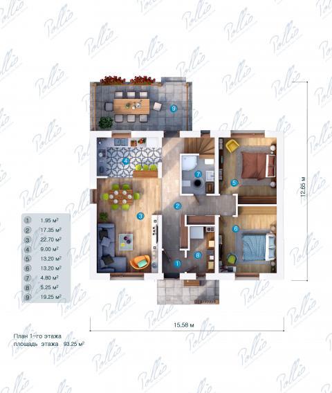 планировки первого этажа проекта X15