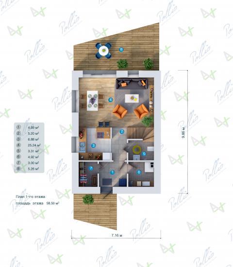 планировки первого этажа проекта P1