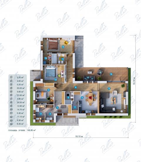 планировки первого этажа проекта X16