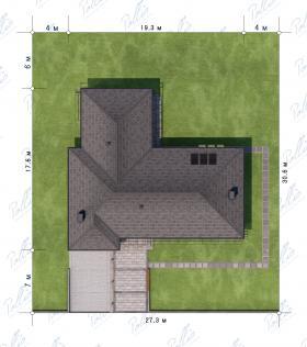 Расположение дома на участке X16
