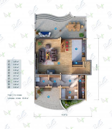 планировки первого этажа проекта X17