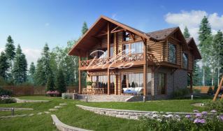 X17 Проект деревянного дома фото 3