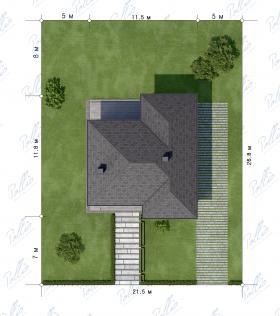 Расположение дома на участке X18