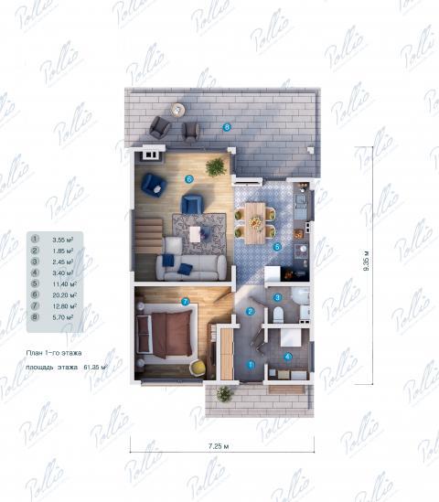 планировки первого этажа проекта X19