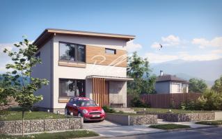 X19 Небольшой и стильный проект двухэтажного дома фото 1