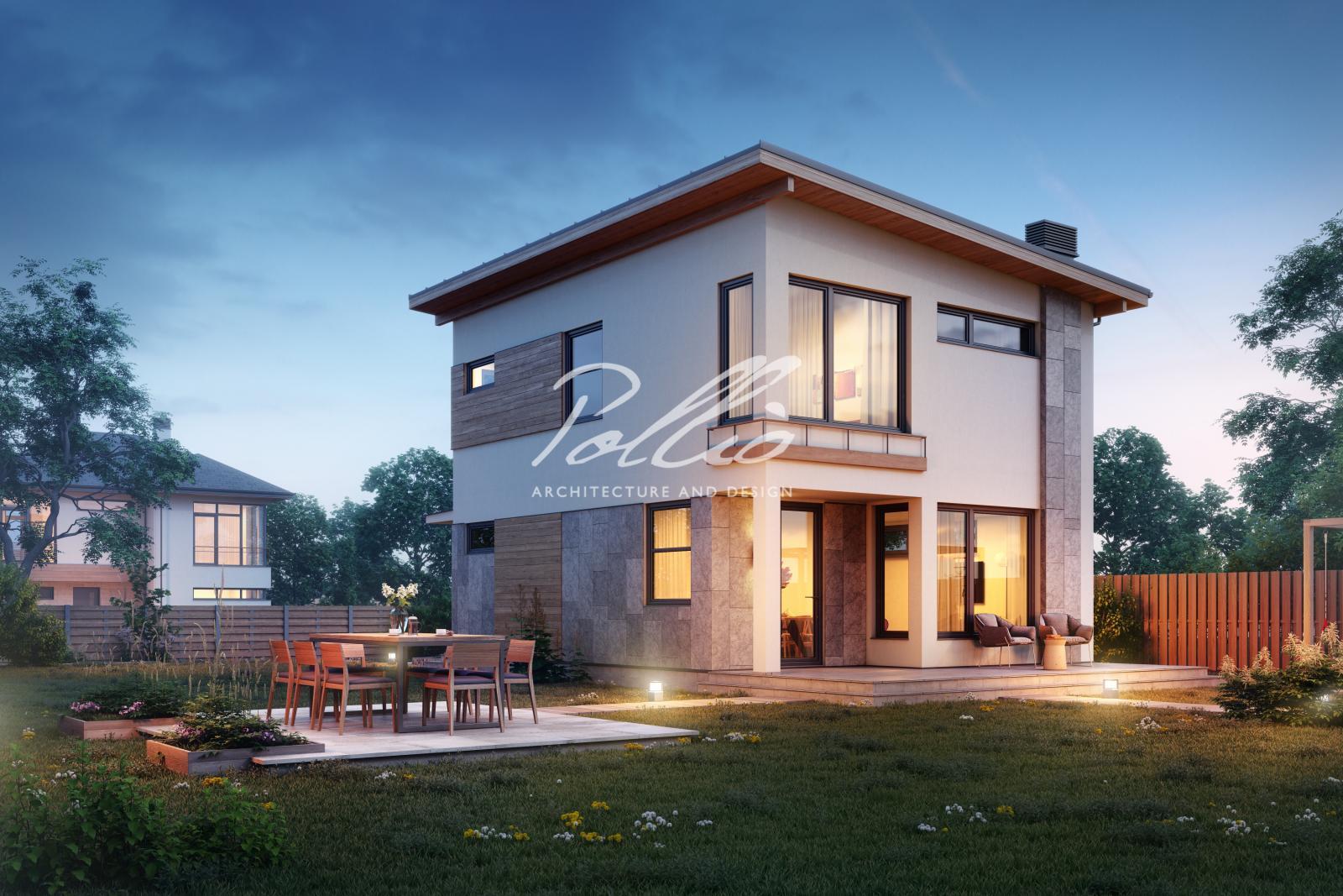 X19 Небольшой и стильный проект двухэтажного дома фото 3
