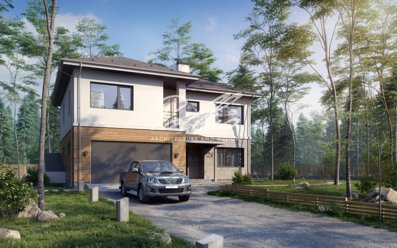 X21. Проект двухэтажного дома с подвалом