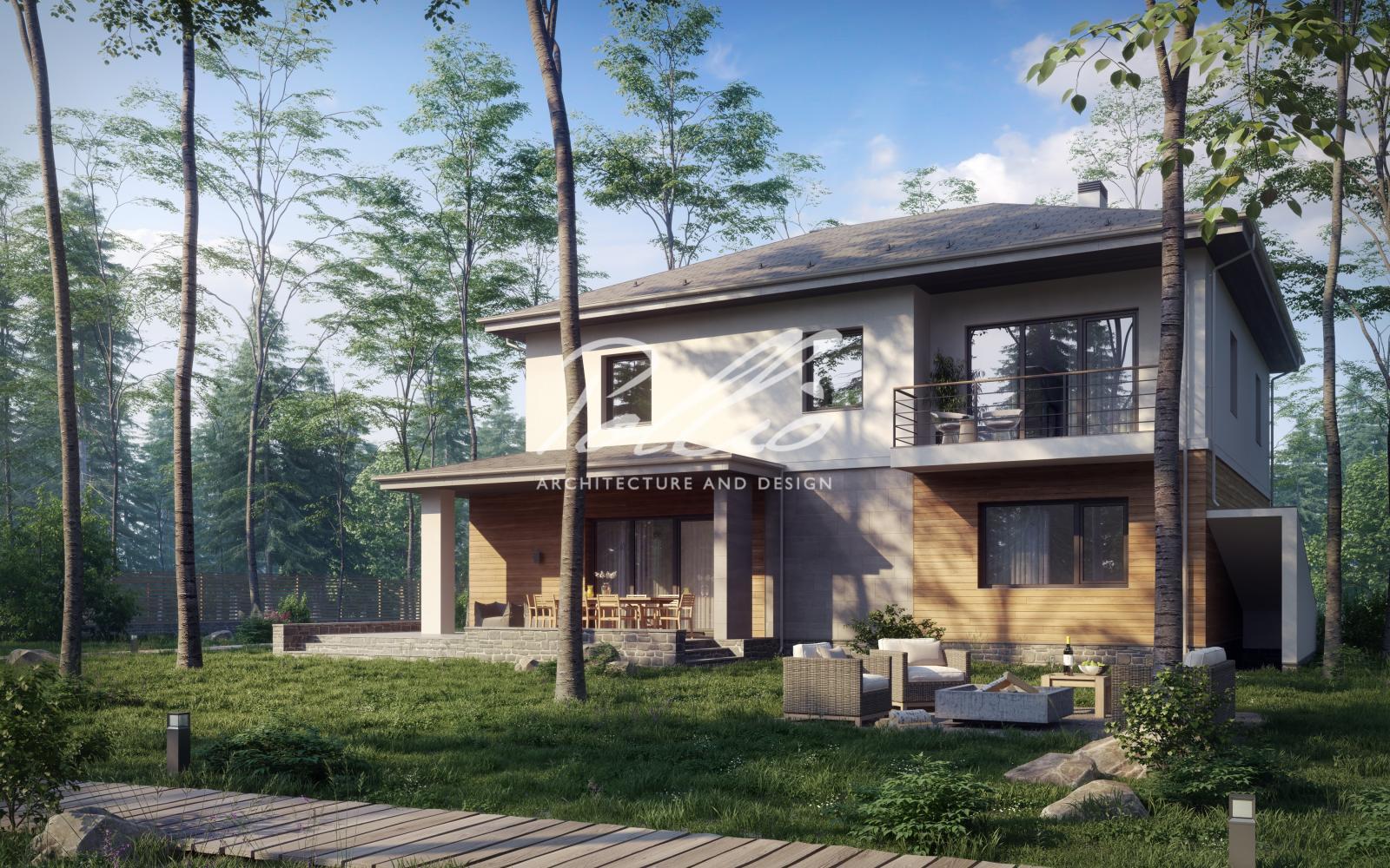 X21 Проект двухэтажного дома с подвалом фото 2