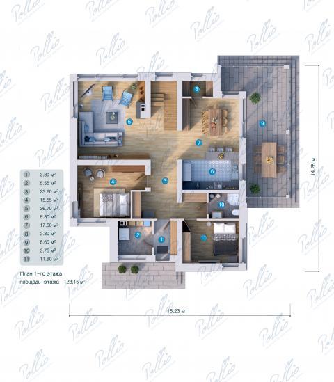 планировки первого этажа проекта X22