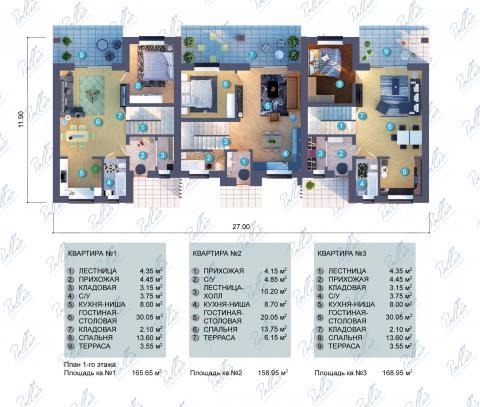 планировки первого этажа проекта Xb2