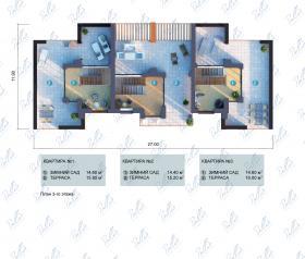 Расположение дома на участке Xb2