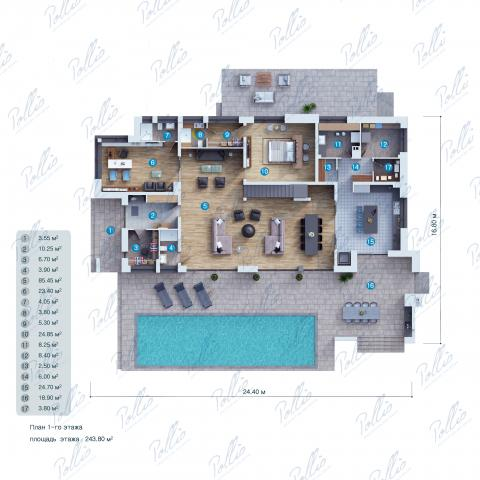 планировки первого этажа проекта X23