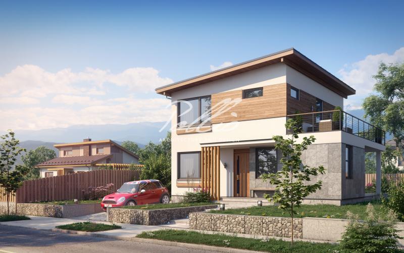 X19a. Небольшой проект двухэтажного дома со вторым светом