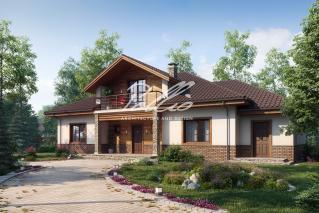 X1 A Классический проект мансардного дома с усовершенствованиями  фото 1