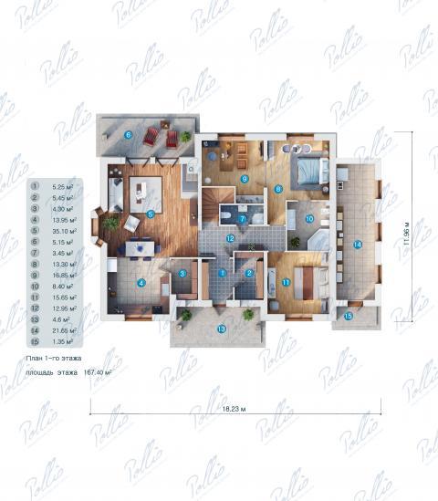 планировки первого этажа проекта X1 A