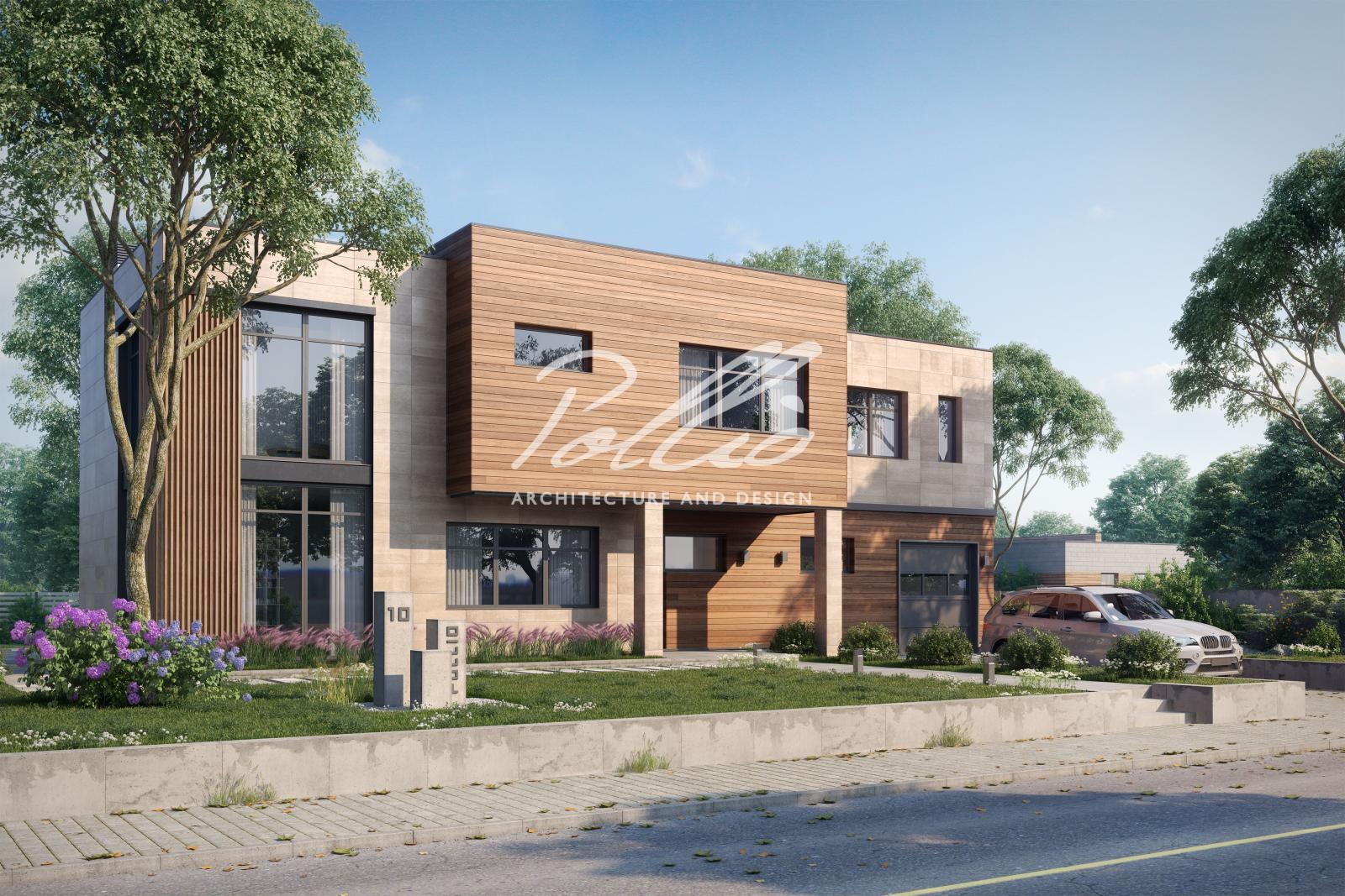 X10 A Проект современного двухэтажного дома фото 0