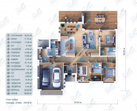 планировки первого этажа проекта X12a