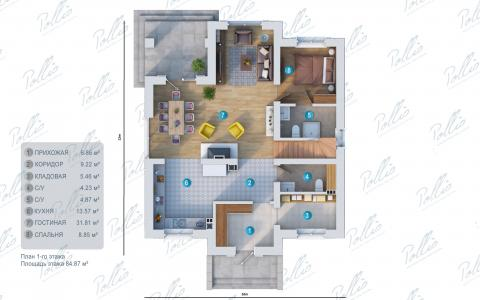 планировки первого этажа проекта X2a
