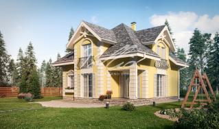 X2a Классический проект мансардного дома в стиле Прованс фото 2