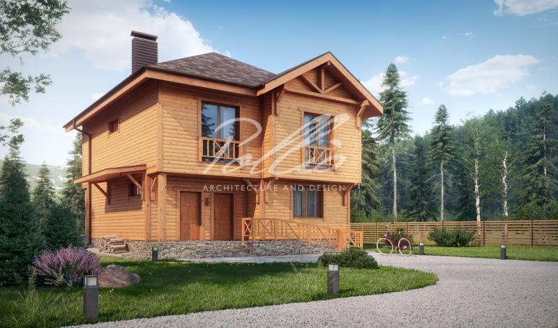 X24. Проект деревянного двухэтажного дома