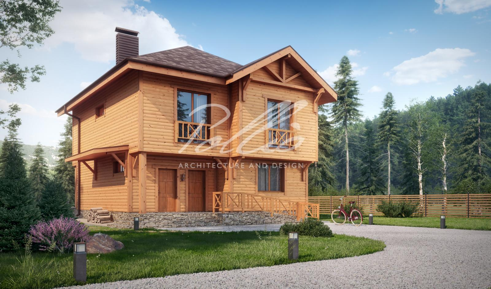 X24 Проект деревянного двухэтажного дома фото 4