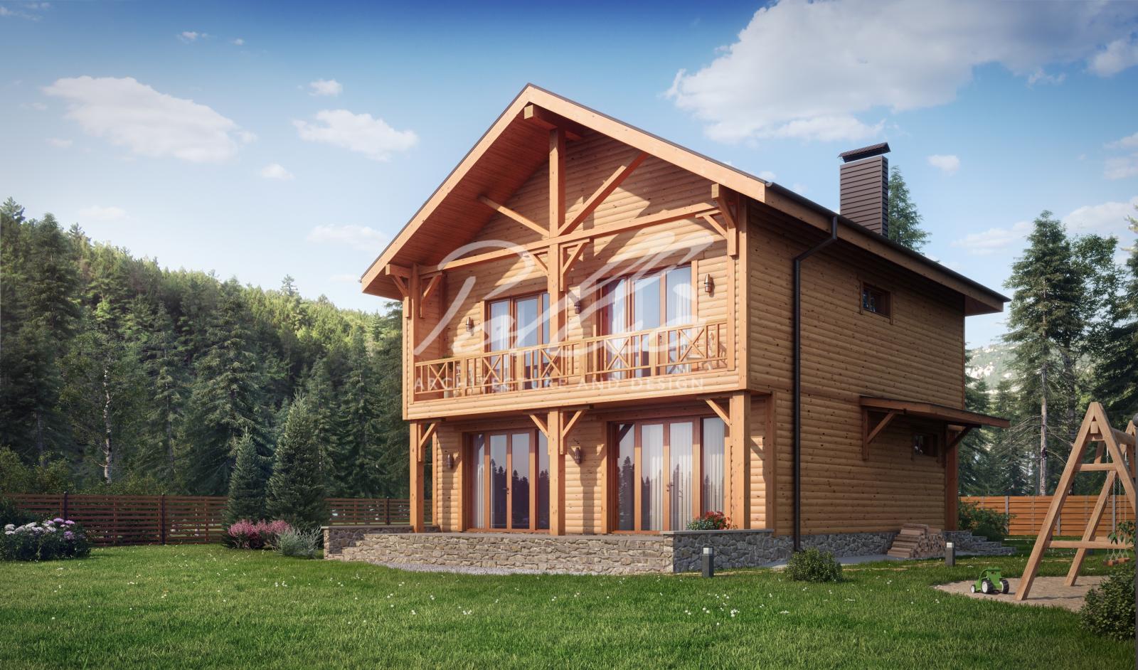 X24 Проект деревянного двухэтажного дома фото 2