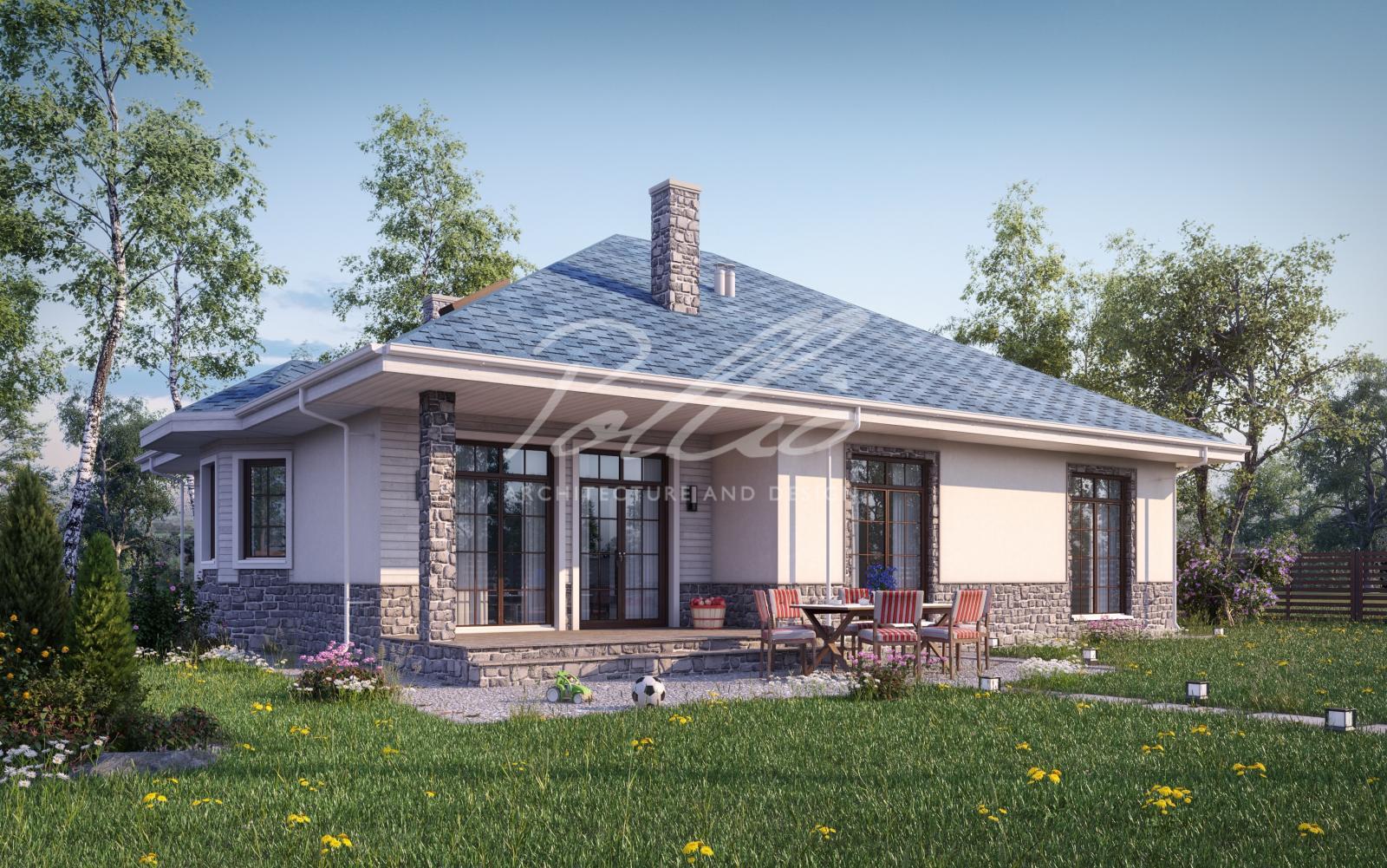 X1b Лучший проект дома с мансардой фото 2