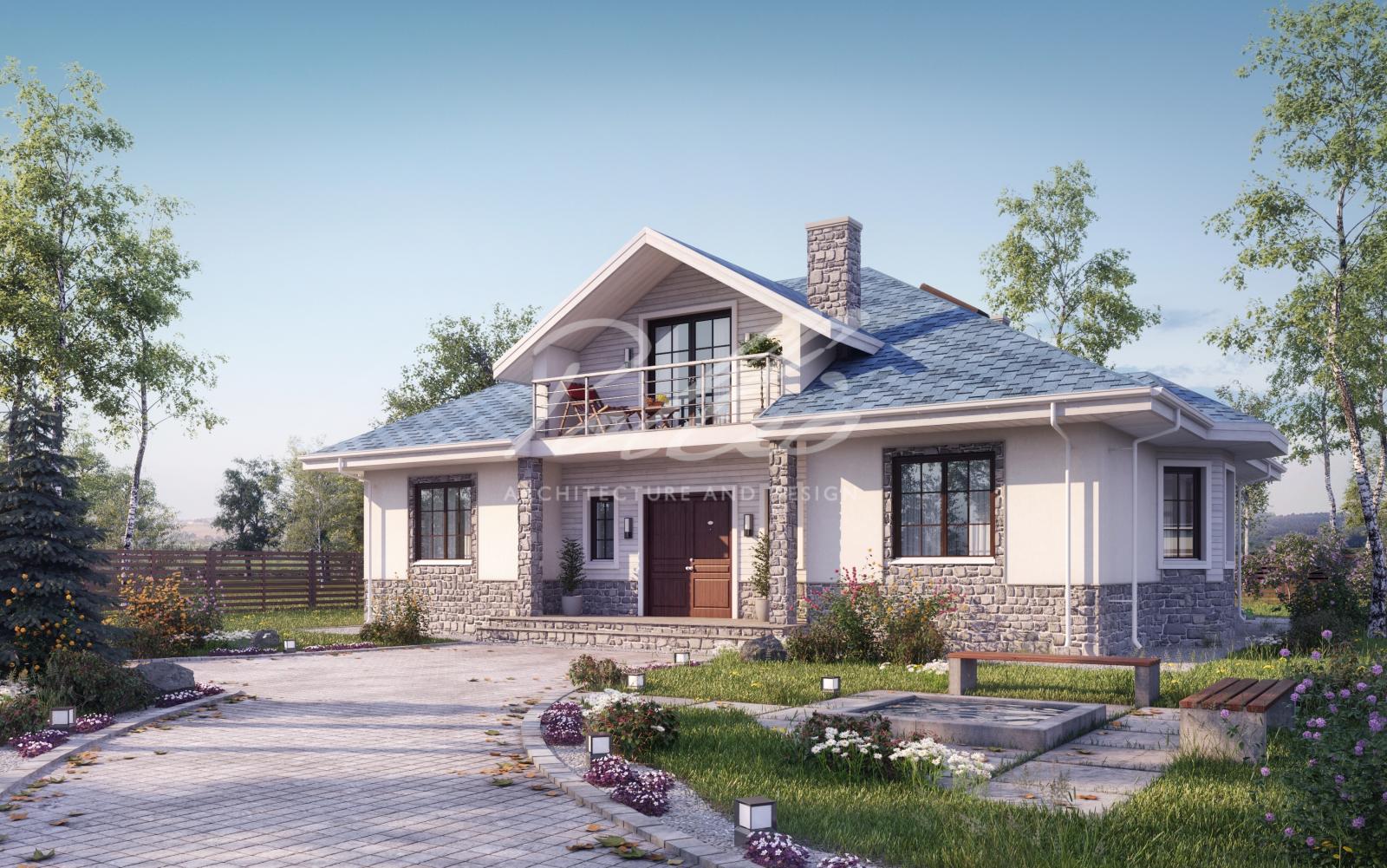 X1b Лучший проект дома с мансардой фото 1