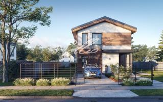 X25 Современный проект дома для узкого участка фото 4