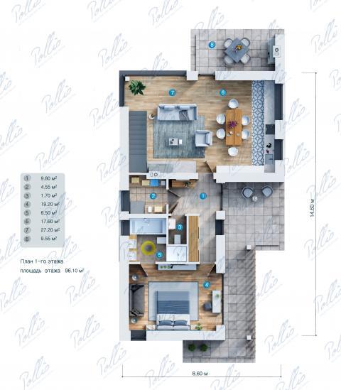 планировки первого этажа проекта X25