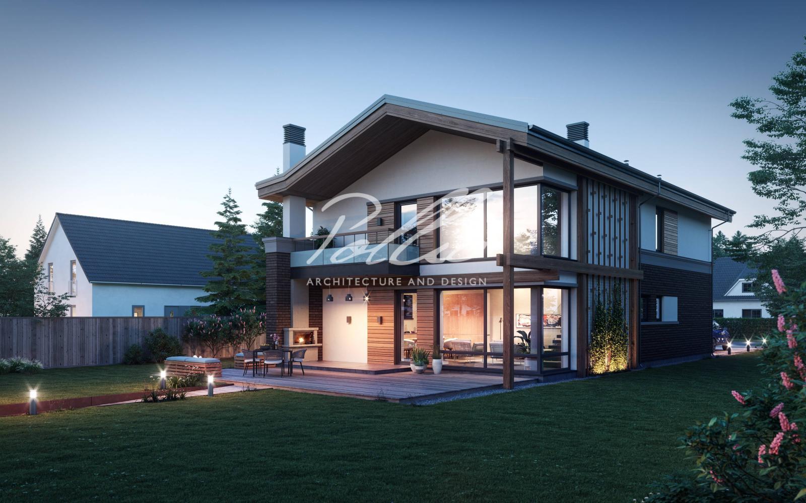 X25 Современный проект дома для узкого участка фото 5