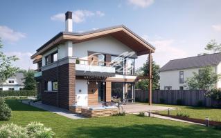 X25 Современный проект дома для узкого участка фото 3