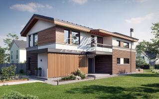 X25 Современный проект дома для узкого участка фото 1
